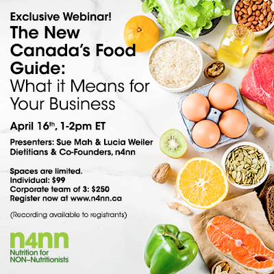 Exclusive Webinar! The New Canada?s Food Guide: What it Means for Your Business