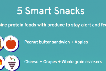 protein foods combined with produce for snacks
