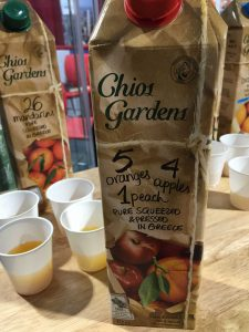 Chios Gardens juice front