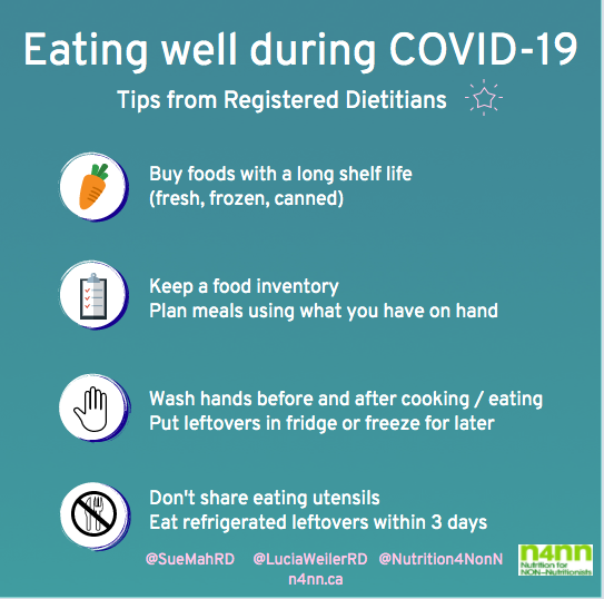List of tip for eating well during COVID-19