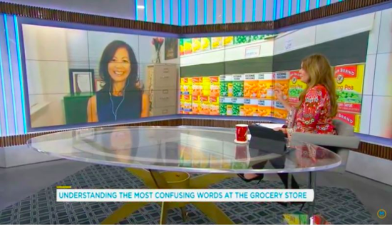 Dietitian Sue Mah speaking via SKYPE to TV host Lindsey DeLuce